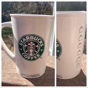 2007 Starbucks Mermaid checklist 12oz Grande Mug